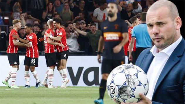 Wesley Sneijder'den PSV'ye 5-1 mağlup olan Galatasaray için olay yorum: Şok oldum, bu oyun böyle bir kulübe yakışmıyor